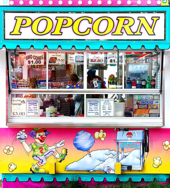 Photograph - Popcorn Stand by Jim Hughes