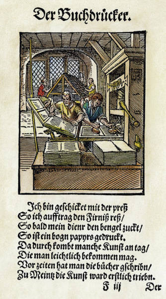 Painting - Printing Office, 1568 by Granger