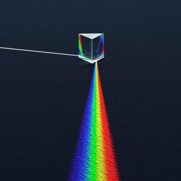 Photograph - Prism Dispersing Light Into Spectrum by David Parker