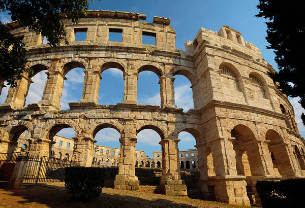 Amphitheater Wall Art - Photograph - Pula, Istria County, Croatia. The Roman by Panoramic Images
