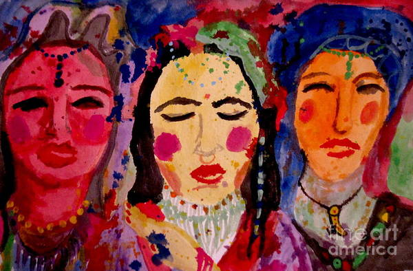 Lip Piercing Wall Art - Painting - 3 Queens Of Color by Amy Sorrell
