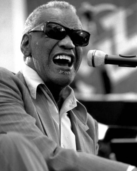 Piano Photograph - Ray Charles by Retro Images Archive
