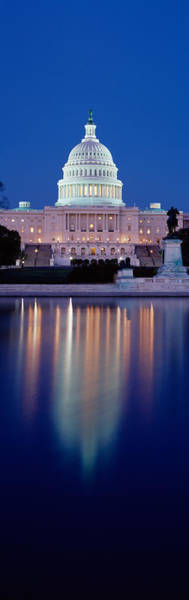 Senate Photograph - Reflection Of A Government Building by Panoramic Images