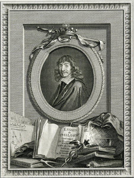 Wall Art - Drawing - Rene Descartes  French Philosopher by Mary Evans Picture Library