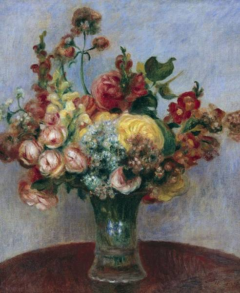 Flowers In A Vase Photograph - Renoir, Pierre-auguste 1841-1919 by Everett
