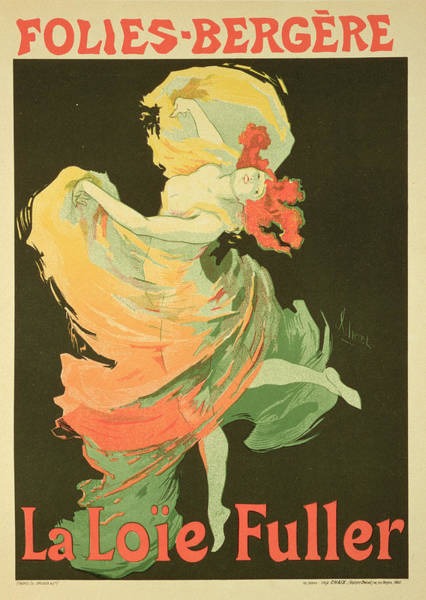 Dancer Drawing - Reproduction Of A Poster Advertising by Jules Cheret