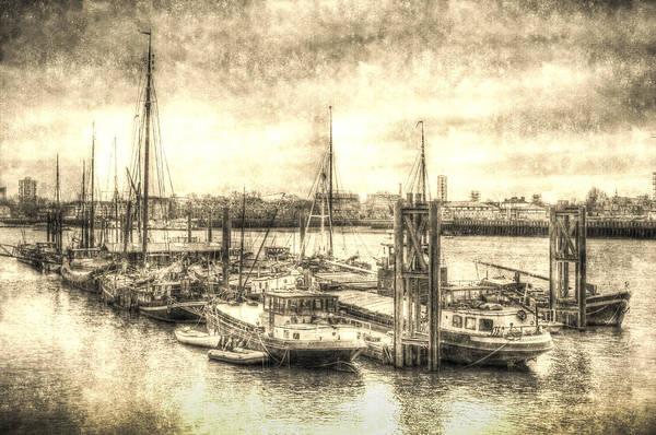 River Thames Digital Art - River Thames Boat Community by David Pyatt
