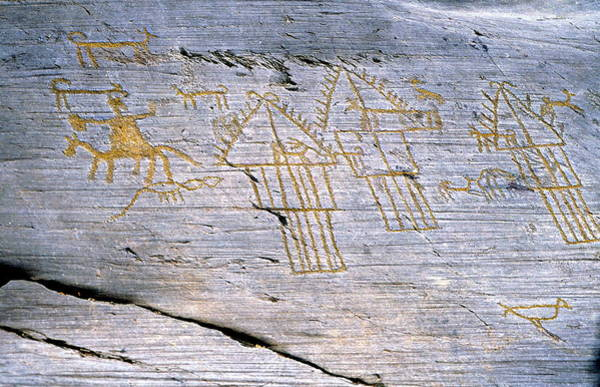 Pictograph Photograph - Rock Carvings by Sheila Terry/science Photo Library