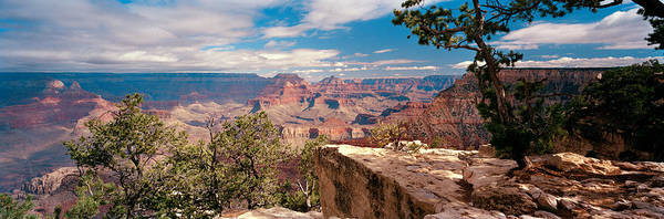 Mather Point Photograph - Rock Formations In A National Park by Panoramic Images