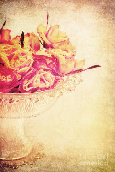 Rose Bowl Photograph - Romance by Angela Doelling AD DESIGN Photo and PhotoArt