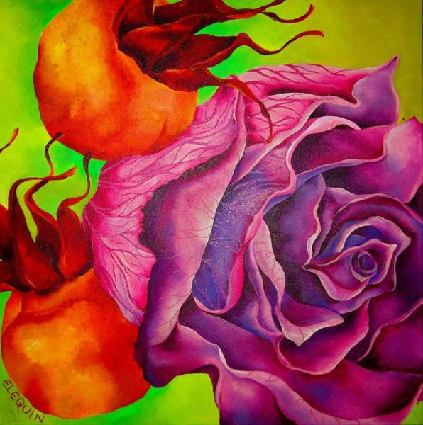 Wall Art - Painting - Rosehip by Elizabeth Elequin