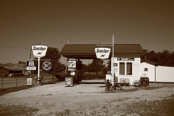 Photograph - Route 66 Gas Station by Frank Romeo