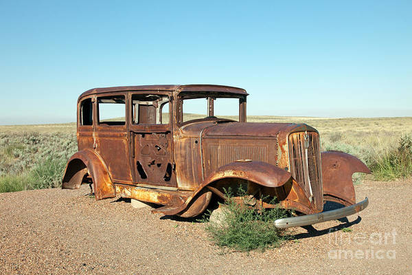 Photograph - Route 66 Memorial Painted Desert Petrified Forest National Park by Fred Stearns