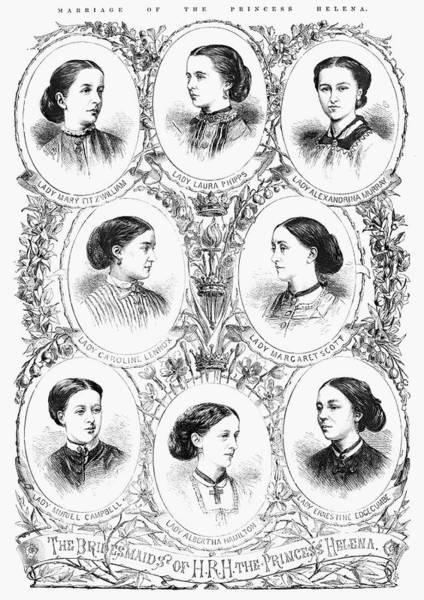 Bridesmaids Painting - Royal Wedding, 1866 by Granger