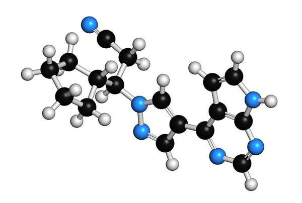 Bone Structure Wall Art - Photograph - Ruxolitinib Myelofibrosis Cancer Drug by Molekuul