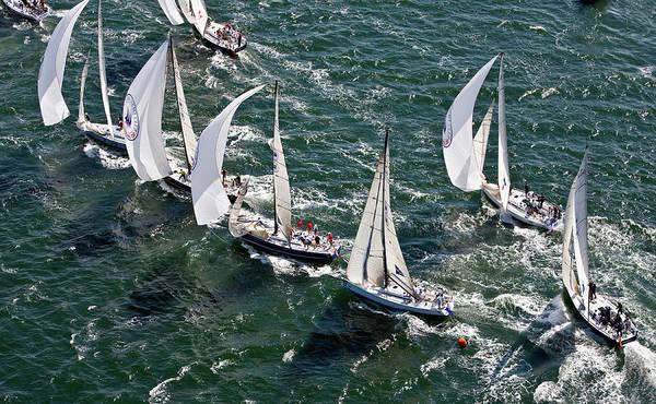 Swan Boats Photograph - Sailboats In Swan Nyyc Invitational by Panoramic Images