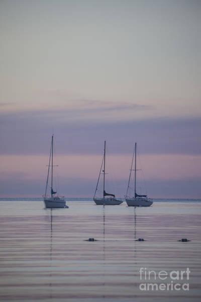 3 Sailboats Art Print