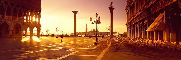 Leisurely Photograph - Saint Mark Square, Venice, Italy by Panoramic Images
