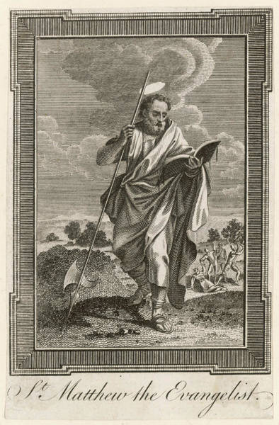 Wall Art - Drawing - Saint Matthew The Evangelist  Saint by Mary Evans Picture Library