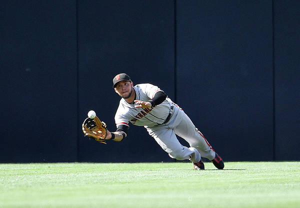 Ball Photograph - San Francisco Giants V San Diego Padres by Denis Poroy