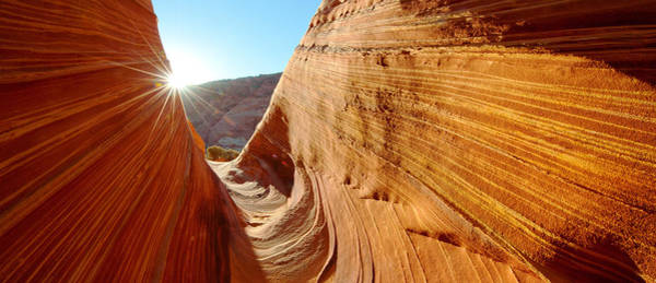 Paria Photograph - Sandstone Rock Formations, The Wave by Panoramic Images