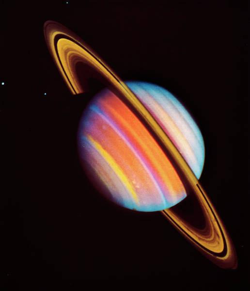 Voyager Photograph - Saturn by Nasa