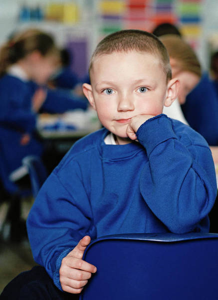 Classroom Photograph - Schoolboy by Martin Riedl/science Photo Library