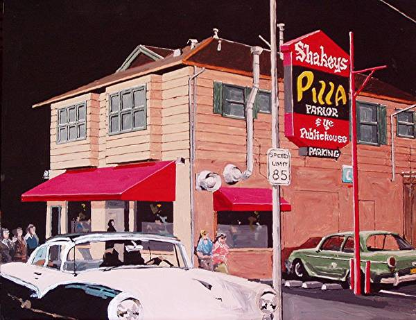 Shakey's Pizza Art Print by Paul Guyer