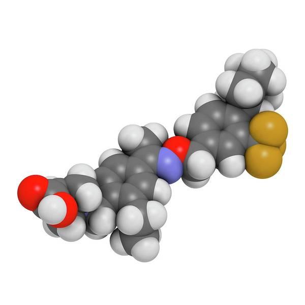 Wall Art - Photograph - Siponimod Anti-inflammatory Drug Molecule by Molekuul/science Photo Library