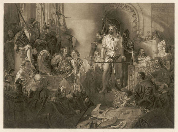 Wall Art - Drawing - Sir William Wallace Scottish Patriot by Mary Evans Picture Library