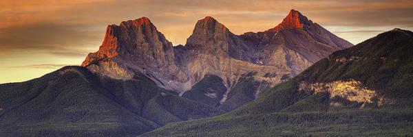 Rockies Digital Art - 3 Sisters Canmore Alberta by Diane Dugas