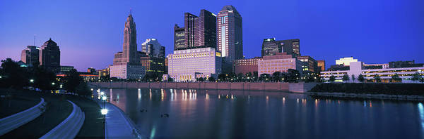 Scioto Photograph - Skyscrapers At The Waterfront, Scioto by Panoramic Images