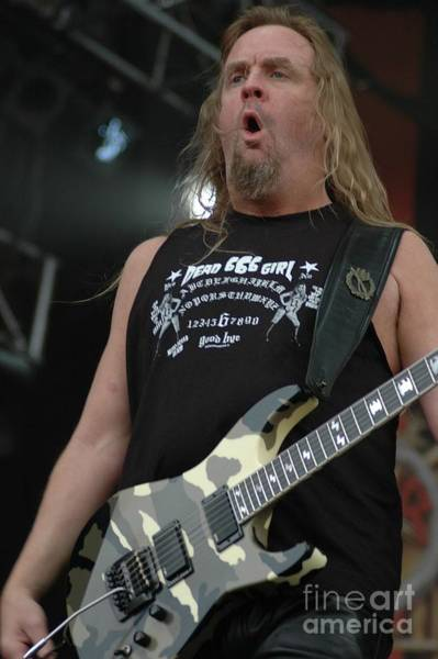 Photograph - Slayer Jeff Hanneman by Jenny Potter