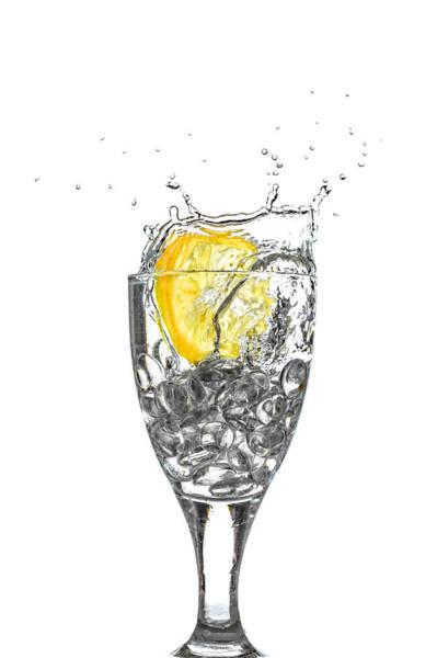 Photograph - Slice Of Lemon In Glass by Peter Lakomy