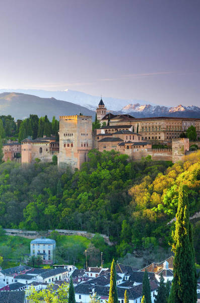 Sierra Nevada Photograph - Spain, Andalucia, Granada, Alhambra by Alan Copson