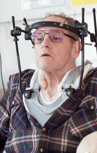 Neck Brace Photograph - Spinal Injury Patient by Life In View