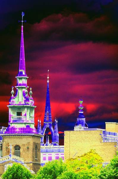 Photograph - 3 Spires  by Richard Henne