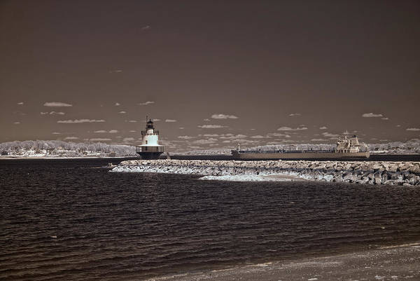 Photograph - Spring Point Ledge Light by Joann Vitali