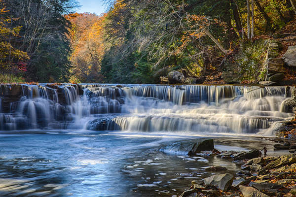 Photograph - Squaw Rock - Chagrin River Falls by Jack R Perry