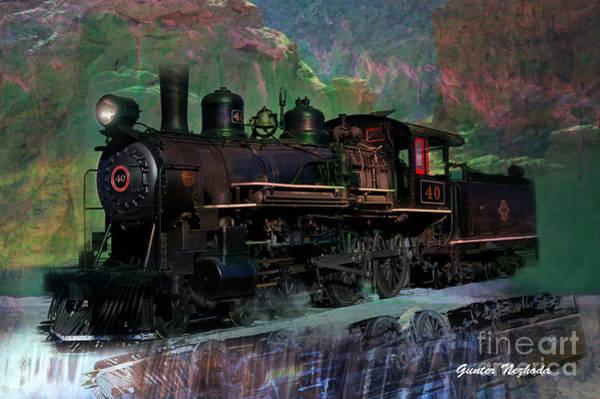 Photograph - Steam Locomotive by Gunter Nezhoda