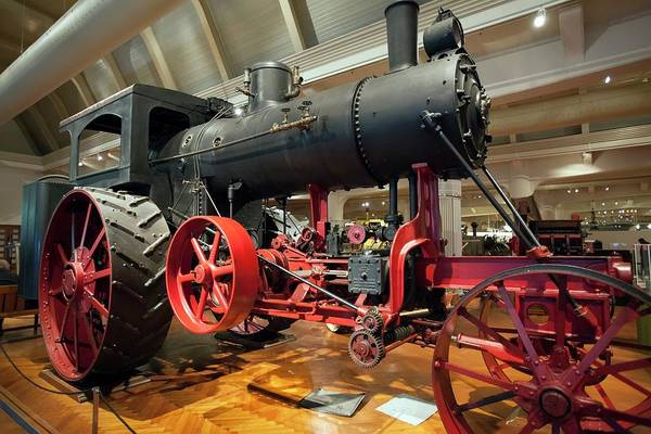 Traction Photograph - Steam Traction Engine by Jim West