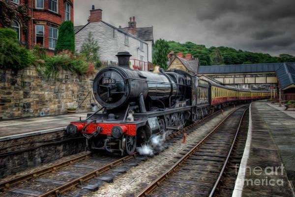 Railway Station Photograph - Steam Train by Adrian Evans