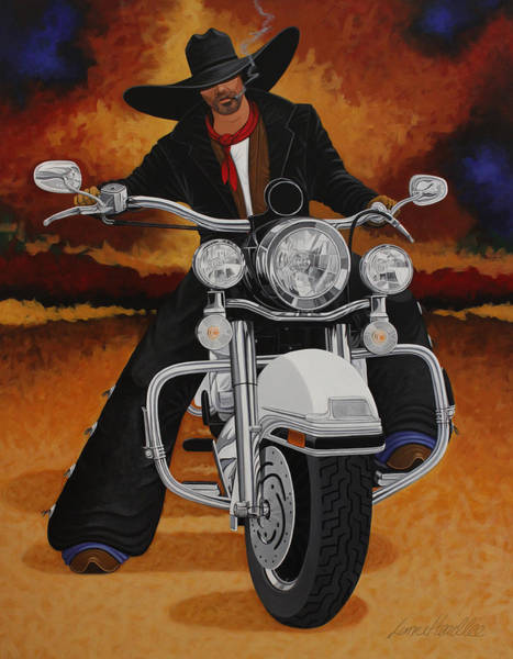Harley Davidson Painting - Steel Pony by Lance Headlee