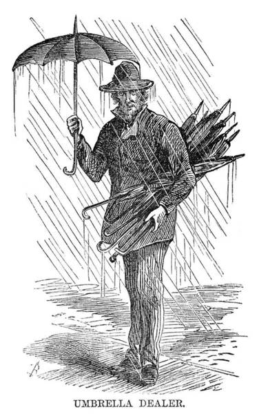 Drawing - Street Peddler, 1868 by Granger