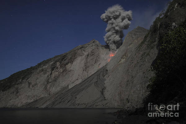 Photograph - Strombolian Type Eruption Of Batu Tara by Richard Roscoe