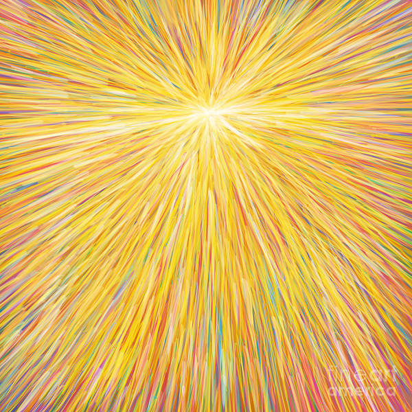 Pastel Drawing Painting - sun by Atiketta Sangasaeng