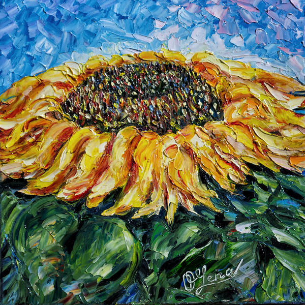 Painting - Sunflower  by OLena Art - Lena Owens