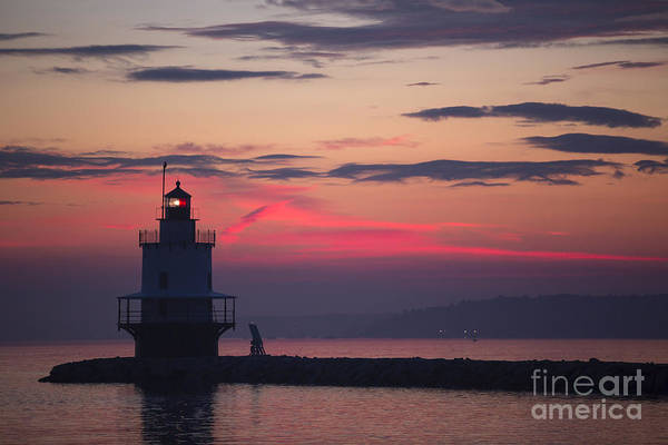 Casco Bay Photograph - Sunrise At Spring Point Lighthouse by Diane Diederich