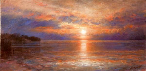 Wall Art - Painting - Sunset by Arthur Braginsky