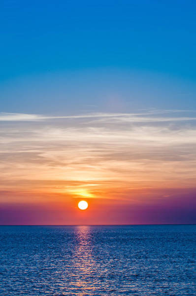 Photograph - Sunset At Sea With Multiple Color Prizm by Alex Grichenko